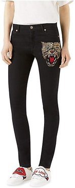Angry Cat Skinny Jeans