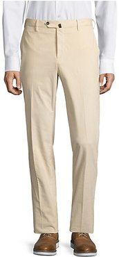 Slim-Fit Corduroy Trousers - Off White - Size 46 (30)