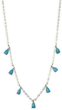 Turquoise & 14K Yellow Gold Necklace - Yellow Gold