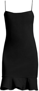 Banks Flounce Sheath Dress - Black - Size 10