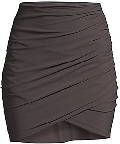 Ebi Wrap Skirt - Chocolate - Size 48 (12)