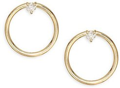 Remi 14K Gold & Diamond Earrings - Yellow Gold