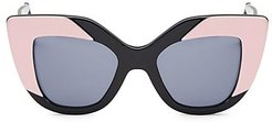 Juliette 42MM Cat Eye Sunglasses - Black
