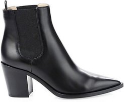 Romney Point-Toe Leather Chelsea Boots - Black - Size 36.5 (6.5)