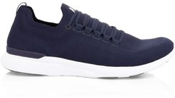 TechLoom Breeze Mesh Runners - Midnight White - Size 11.5 D