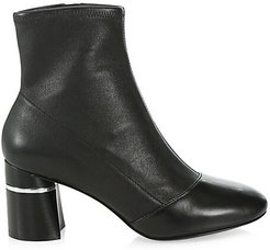 Drum Leather Ankle Boots - Black - Size 40 (10)