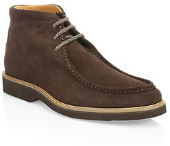 COLLECTION Suede Contrast Sole Desert Boots - Dark Brown - Size 8.5 M
