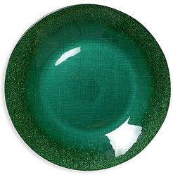 Glitter Glass Large Plate - Green