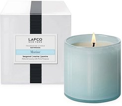 Bathroom Bergamot, Marine & Amp Jasmine Glass Candle