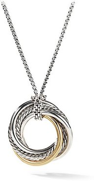 Crossover Small Pendant With Gold - Silver Gold