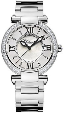 Imperiale Stainless Steel, Diamond & Mother-Of-Pearl Bracelet Watch - Silver