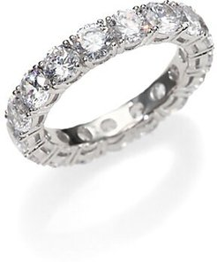 Sterling Silver Eternity Band Ring - Silver - Size 7