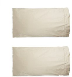 Set of Two Single Ajour Pillowcases - Sandstone - Size Standard