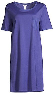 Cotton Deluxe Short Sleeve Gown - Wisteria - Size XS