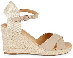 Ankle-Strap Wedge Espadrilles