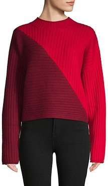 Colorblock Wool & Cashmere-Blend Sweater