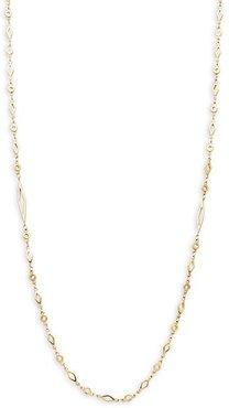 Goldtone Adjustable Mixed-Link Chain Necklace/38""