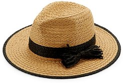 Trimmed Bow Straw Hat