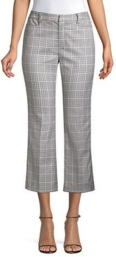Maverick Cropped Check Trousers