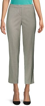 Tiluna Houndstooth Wool-Blend Slim-Fit Ankle Trousers