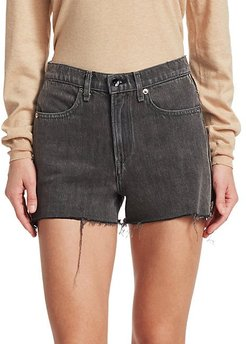 Sophia Side Zip Cut Off Denim Shorts