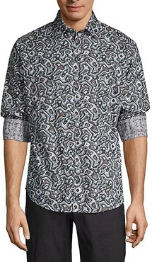 Classic-Fit Printed Long-Sleeve Shirt