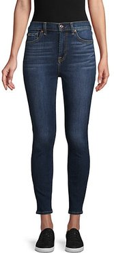 Whiskered Ankle Jeans