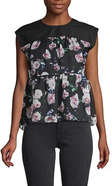 Sleeveless Floral Top
