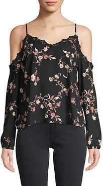 Floral Cold-Shoulder Top
