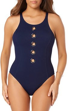 Cut-Out Stretch Swimsuit