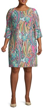 Plus Paisley Shift Dress