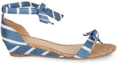Clarita Stripe Demi Wedge Sandals