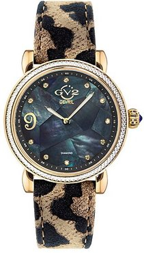 Ravenna Mosaic Mother-Of-Pearl Leather Strap Watch