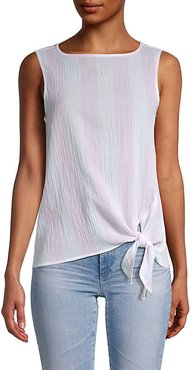 Bobbi Crinkled Cotton Side-Tie Top