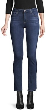 Buttoned Mid-Rise Jeans
