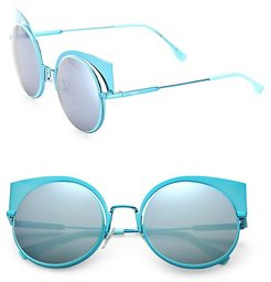 53MM Mirrored Cat's-Eye Sunglasses