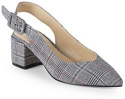 Brandee Plaid Slingback Pumps