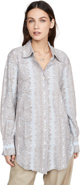 Esophi Allover Jacquard Button Down