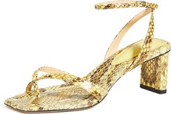 Nelly Square Exotic Sandals