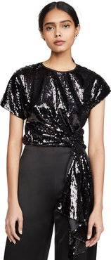 Electric Orchid Sequined Top