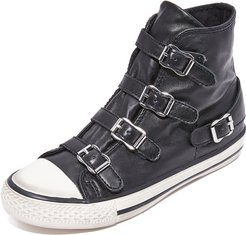 Virgin Buckled High Top Sneakers