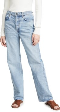 Slouchy Straight Leg Jeans
