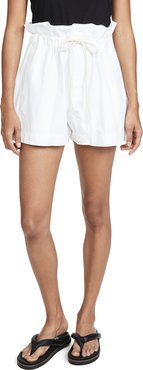 Canvas Paper Bag Relaxed Shorts