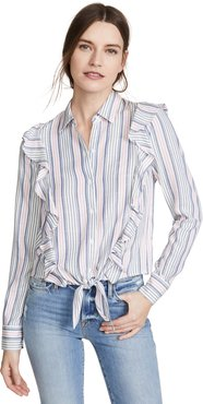 Jack By BB Dakota Ruffle Rider Button Down