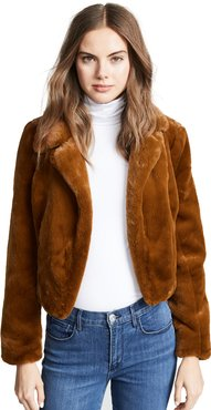 Cropped Faux Fur Jacket