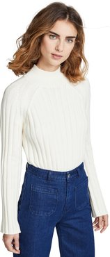 Wide Rib Turtleneck Sweater