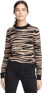 Tiger Stripe Crew Sweater