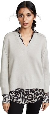 V Neck Layered Sweater
