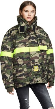 Fireman Down Jacket with Reflective Tape