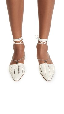 Olivia Chain Wrap Woven Flats